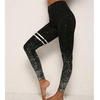 polainas de oro calientes al por mayor-Nuevas polainas estampadas en oro para mujeres calientes sin leggings deportivos transparentes que cosen los pantalones de las mujeres