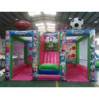 Wholesale 3 in Cheap Outdoor Inflatable carnival Games Giant Basketball Hoop soccer dart rugby game