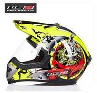 ls2 kapalı yol kaskları toptan satış-LS2 profesyonel off-road yarış motosiklet kask MX433 Kros spor araç motosiklet koştu kask ABS lens yapılmış