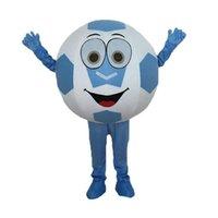 футбол характер оптовых-Хеллоуин футбол костюм талисмана высшего качества мультфильм г-н футбол аниме тема персонаж рождественский карнавал костюмы