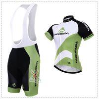 merida grün jersey großhandel-New White Green Merida Fahrradbekleidung / Fahrrad Sport Fahrrad Rennrad Trikot Kurzarm / Radsportbekleidung / atmungsaktiv / schnell trocknend