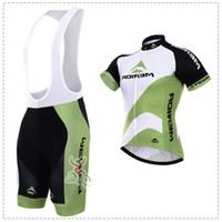 maillot vert merida achat en gros de-Nouveau Blanc Vert Merida Vélo Vêtements / Vélo Sport Vélo De Route Vélo Jersey À Manches Courtes / Vêtements De Cyclisme / respirant / Séchage Rapide