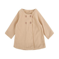 Wholesale cute jackets for spring resale online - 2019 Winter Warm Baby Jackets Long Windproof Coat Infant Kids Button for Girls Outerwear New Year Christmas Cute Warm Clothing