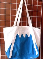 Wholesale canvas mountain bag for sale - Group buy Authentic Blue White Rootote Canvas Bag Fuji Mountain Bag Large Capacity Durability Hot Sale
