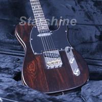 guitarra elétrica pescoço rosewood venda por atacado-JEN6209 Limitada TL Guitarra Elétrica Completa Sólida Rosewood Corpo E Pescoço Mancha Concluir Acabamento Do Vintage De Bronze Selas Ponte