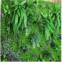 ingrosso decorazioni murali-Ambiente artificiale prato artificiale simulazione di simulazione vegetale parete del prato esterno edera recinzione cespuglio piante pareti per la casa decorazione della parete del giardino