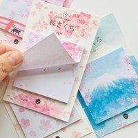 marcador de vara venda por atacado-30 Folhas de Fuji Montanha Sakura Memo Pads Plano Mensagem Escrita Sticky Notes Marcador Vara Etiqueta Da Escola Material de Escritório