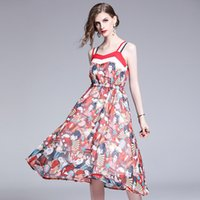 Sexy Lady s Spaghetti Strap Dresses in Summer,Beauty Printing Dress,Women s  Beach Vacation Skirts,A Dress