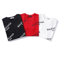 ingrosso vendita top magliette da donna-2019 Unisex vendita calda Parigi Design uomo stampato Full Bal ciaga Logo Tee Shirt T Shirt femminile moda donna barcelo Slim Fashion maglieria Top