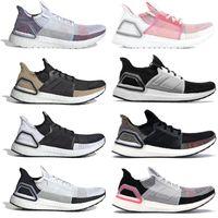 6390ac809 Ultra Boost 2019 Running Shoes Men Women Core Black Grey Six Shock Cyan  Panda Balck White Designer Sneakers Ultraboost Sport Shoes
