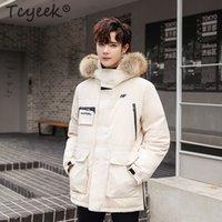 moda coreana chaqueta de hombre invierno al por mayor-Chaqueta de plumón para hombre de la marca Tcyeek Abrigo de invierno grueso con capucha Ropa de hombre 2019 Chaquetas de plumón de pato cálido coreano Ropa de moda Hiver Nf