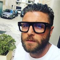 monturas de gafas femeninas al por mayor-Diseñador de la marca Mujeres Hombres Mujeres Hombre Gafas Marco Cuadrado de Metal Vista Corta Miopía Gafas Planas Marco Al Por Mayor