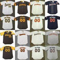 eef49d0e Custom mens throw back Padres ALAN WIGGINS KHALIL GREENE BILL ALMON STEVE  GARVEY BENITO SANTIAGO baseball jersey stitched S-5XL