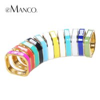 joyería de aleación de calidad al por mayor-Joyería del ashion brazaletes multicolores de las mujeres de aleación de zinc pulseras puños marca eManco Nuevas promociones de alta calidad Pulseiras Moda Femininas ...