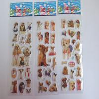 ingrosso i mazzi di animali dei capretti-20pcs / Lot 3D Car Cani del fumetto Styling Adesivi Bambini Diy ADESIVOS de Paredes decalcomanie animali Mural Arts Pvc Movie Poster