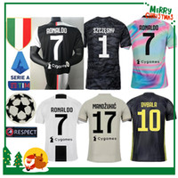 jersey italia al por mayor-Camiseta de fútbol 2019 Juventus Ronaldo DYBALA PJANIC COSTA 19 20 Italia MANDZUKIC BUFFON casa hombre mujer niños niño kit JUVE camiseta de fútbol deportivo