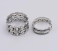 jóia de prata mexicana venda por atacado-Marca de moda designer de prata 925 boate YS Hip hop jóias de prata antigo do vintage mão-feito Hip hop homens e mulher L anéis de presente