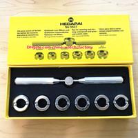 herramientas para relojes al por mayor-Top ventas de alta calidad para Oyster Perpetual Watch 18.5-29.5mm 5537 reloj abridor de caja de reloj herramienta de reparación para 1166610 116500 116710 relojes