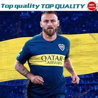 kostenlose fußball-uniformen großhandel-2020 Boca Juniors Home Blue Fußball Trikots 19/20 Boca Juniors entfernt gelb Adult Soccer Shirts Fußball Uniformen Verkäufe Versandkostenfrei