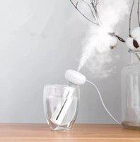 humidificador ultrasonico niebla blanca al por mayor-Humidificador de aire desmontable blanco para la oficina en casa USB Difusor de aroma del coche Mist Maker Humidificadores ultrasónicos difusores