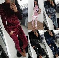 jaqueta de moletom com capuz de caxemira feminina venda por atacado-Mulheres \ 's Fatos Moncl alta qualidade Cashmere Sports Suit Hoodie Moleton Casual Pants Set Jacket sólida Sportswear Cor