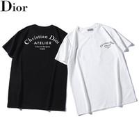 yeni rahat gömlek tasarımları toptan satış-2019 Yeni tasarım DR LOGOSU ATELIER Paris mektup baskılı T-shirt Spor Tişörtleri Yaz Erkek Kadın Sokak Kaykay Kısa Kollu Casual en tees