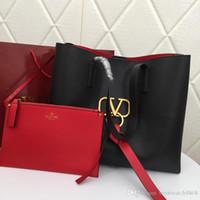 yılbaşı çantaları totes toptan satış-Yılbaşı hediyeleri yüksek kalite ünlü marka tasarımcısı lüks moda lady casual tote omuz çantaları kadın çanta sıcak satış 9871 w88