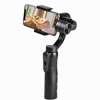 мобильный стенд iphone оптовых-Ручной карданный стабилизатор для iPhone 7 8 X Samsung смартфон высокое качество штатив стенд держатель мобильного приложения управления фото
