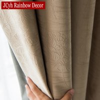 Wholesale grommet drapes resale online - JCyh Solid Blackout Curtain For Living Room Bedroom Modern Blackout Curtains For Window Treatment Drapes Blinds Shading D19011506