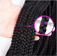 Wholesale pink kanekalon braiding hair for sale - Group buy Box Braids Inches Extensions Ombre Pink Purple Kanekalon Synthetic Crochet Braids grams pack Crochet Hair
