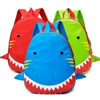 Wholesale sale backpacks resale online - Plush Baby Shark Small Bag Blue Large Mouth Fish Portable Backpack Both Shoulders Zipper Knapsack High Capacity Hot Sale xcb1