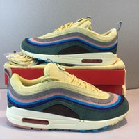 Wholesale womens size 11 shoes online - Top quality SW designer shoes mens womens Sean Wotherspoon VF corduroy new air running shoes boots size US5