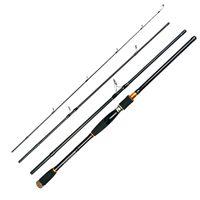 señuelos giratorios al por mayor-2.7M Lure Rod 4 Sección Carbono Caña de pescar Viaje Spinning caña de pescar Vava De Pesca Agua salada