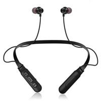 flex blackberry toptan satış-M8 Flex Manyetik Gerdanlık Bluetooth Kulaklık Spor Kablosuz Kulaklıklar Stereo Bluetooth 4.2 Kulaklık için LG ios Android telefon
