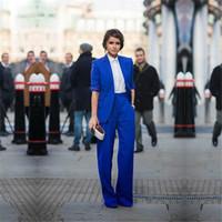 ingrosso vestiti eleganti delle donne di estate della molla-Pantalone per donna Casual Abiti da lavoro per ufficio Abiti da lavoro formale Royal Blue Elegant Pant Summer Spring Custom Made