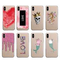ingrosso crani d'amore-Pink Heart Skull Love Pattern Custodia morbida per telefono Fundas Coque per iPhone 7 7Plus 6 6S 5S SE 8 8Plus X XS Max SAMSUNG S10Plus