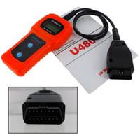 lector de escaneo al por mayor-Cuidado del automóvil U480 OBD2 OBDII OBD-II MEMO Scan MEMOSCAN LCD Auto AUTO Camión Escáner de diagnóstico Lector de códigos de falla Herramienta de escaneo envío rápido