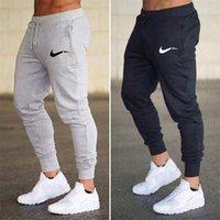 calça de jogger venda por atacado-Mens Joggers Calça Casual aptidão Sportswear Calça de Jogging magros Sweatpants calças pretas Gym Jogger Musculação Track Pants