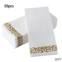 ingrosso tovaglioli di carta biancheria-Tovaglioli da bagno decorativi monouso a mano | Asciugamani in carta morbida e assorbente per la cucina, feste
