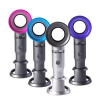 luftkühler mini fan porzellan großhandel-Bladeless Fan X9S Mini-Handheld-Tisch- / Schreibtisch-Luftkühler USB-wiederaufladbarer, abnehmbarer Standventilator mit LED-Leuchtanzeige 60 STÜCKE IM EINZELHANDEL