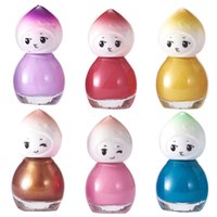 Wholesale doll nail for sale - Group buy 6ML Doll Design Clear Kids Nail Polish Quick Drying Long Lasting Varnish Lacquer Nail Decor Cute Decoration tool Kids Gift