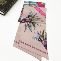 Wholesale new designs for silk printing resale online - Brand new design pirnt flowers yellow color high quality silk size cm cm scaves for women