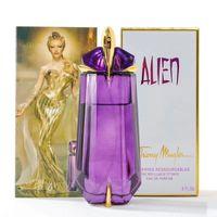 yeni kehribar şişeleri toptan satış-Kadınlar için yeni Varış Çiçek Parfüm Benzersiz Şekli Amber Uzun Ömürlü Şişe Cam Parfüm Kadın Eau De Toilette Sprey 90 ml