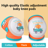 Wholesale elbow pads crawling for sale - Group buy Adjustable Baby Knee Pads for Crawling and Safety Breathable Children s Cartoon Kneecap pair for years Babys egg test