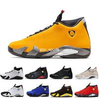 ingrosso le scarpe da tennis di pallacanestro di marca-2019 New jordan retro 14 SE Reverse Ferrar Mens scarpe da basket 14s Mens marca scarpe da ginnastica Università oro BQ3685-706 US8-12