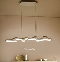Wholesale hanging bar lights resale online - Creative Modern Led Hanging Pendant Lights For Shop Bar Dining Kitchen Room AC85 V Acrylic Led Pendant Lamp