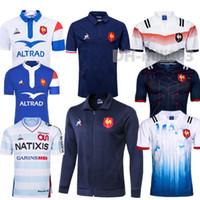 xxl 18 quente venda por atacado-Hot 2019 França Super Rugby Jerseys com jaqueta 18/19 França Camisas de Rugby Maillot de Pé Francês BOLN Rugby camisa jaquetas tamanho S-3XL