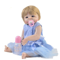 Wholesale alive dolls for sale - Group buy Lifelike cm bebe doll Reborn Alive Full Body Silicone Baby Doll Toy For Children s Day Festival Xmas Gifts bb reborn
