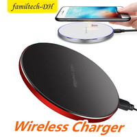 Wholesale best qi charging pad for sale – best Best Wireless Quick Charger Pad QI W Power Fast Charging Smooth Metal Pad With LED Light For Iphone Xs For Huawe Mate20 all QI Device
