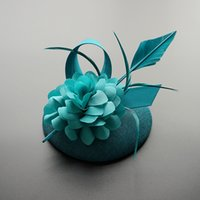 Wholesale women party clip hats for sale - Group buy Handmade Brand Feather Fascinator Hat Hair Clip Women Blue PInk Red Shooting Headwear Elegant Ladies Costume Party Headwear New
